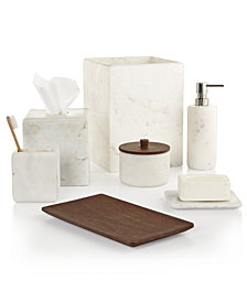 CLOSEOUT! Hotel Collection Marble Bath Accessories, Created for Macy's