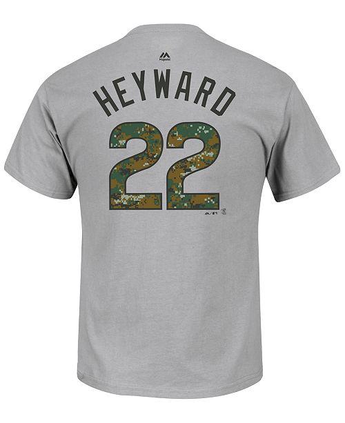 Majestic Men's Jason Heyward Chicago Cubs 2016 USMC Player T-Shirt