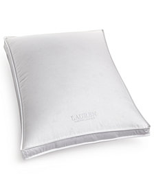 Lauren Ralph Lauren White Down Firm Density Standard Gusset Pillow, Certified Asthma and Allergy Friendly™
