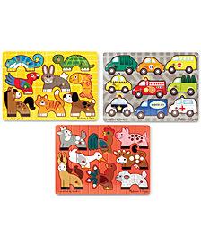 Melissa & Doug Kids' 3-Pk. Mix N' Match Peg Puzzle Bundle