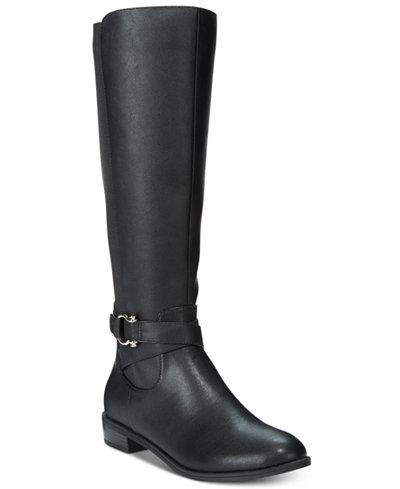 Karen Scott Davina Riding Boots, Only at Macy's - Boots - Shoes ...