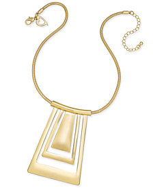 Thalia Sodi Gold-Tone Geometric Collar Pendant Necklace, Created for Macy's