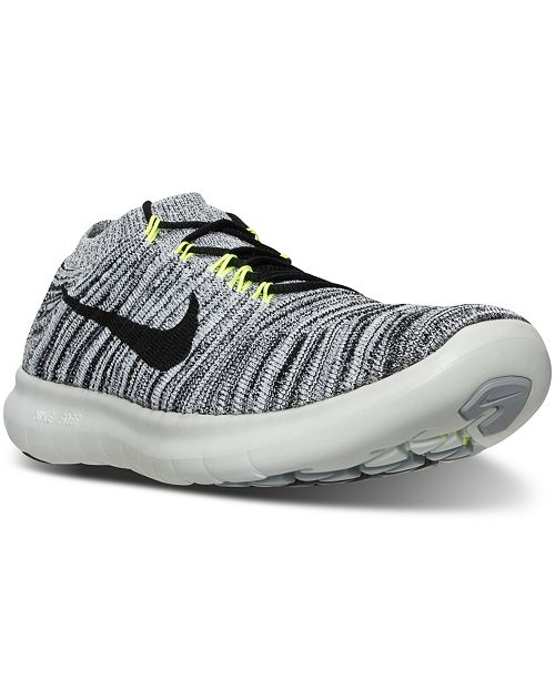Nike Men S Free Run Motion Flyknit Running Sneakers From Finish Line Reviews Finish Line Athletic Shoes Men Macy S