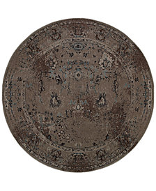 CLOSEOUT! Oriental Weavers Revamp REV7551Q Grey 7'8'' Round Rug