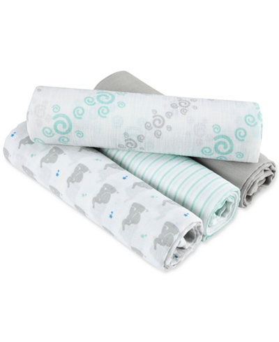 aden by aden + anais 4-Pk. Baby Star Swaddle Blankets, Baby Boys & Girls