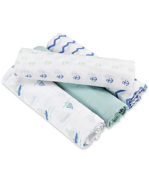 aden by aden + anais aden + anais 4-Pk. Sailing Sea Swaddle Blankets, Baby Boys