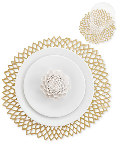 Chilewich Pressed Dahlia Placemat Table Linens Dining