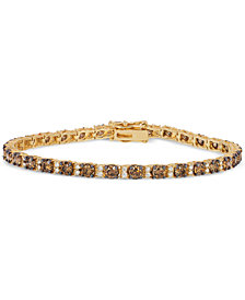 Le Vian® Chocolatier Diamond Tennis Bracelet (5-3/8 ct. t.w.) in 14k Gold