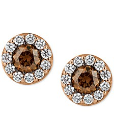 Chocolatier® Diamond Stud Earrings (3/4 ct. t.w.) in 14k Rose Gold