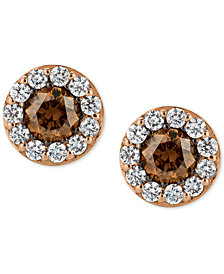 Le Vian Chocolatier® Diamond Stud Earrings (3/4 ct. t.w.) in 14k Rose Gold