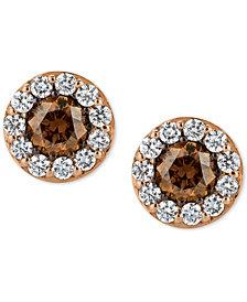 Le Vian Chocolatier® Diamond Stud Earrings (3/4 ct. t.w.) in 14k Rose Gold