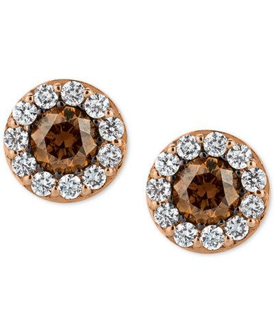 le vian chocolatier diamond stud earrings 3 4 ct t w. Black Bedroom Furniture Sets. Home Design Ideas