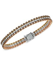 Chocolatier Diamond Tri-Tone Bracelet  (3-9/10 ct. t.w.) in 14K Yellow, White and Rose Gold