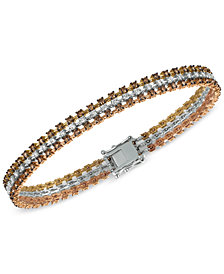 Le Vian® Chocolatier Diamond Tri-Tone Bracelet  (3-9/10 ct. t.w.) in 14K Yellow, White and Rose Gold
