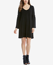 Karen Kane Bell-Sleeve Peasant Dress