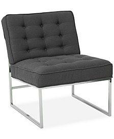 Nevyn Wide Faux-Leather Accent Chair