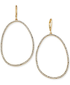 """I.N.C. Extra Large 2.5"""" Pavé Large Loop Earrings, Created for Macy's"""