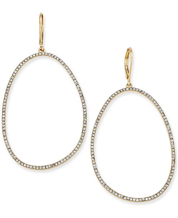 "INC International Concepts INC Extra Large 2.5"" Pavé Large Loop Earrings, Created for Macy's"