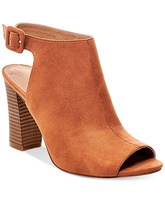 Madden Girl Beckkie Slingback Peep-Toe Booties