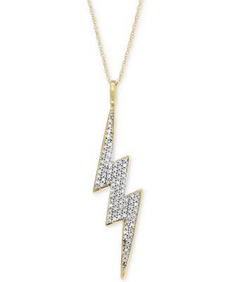 Wrapped in love diamond lightning bolt pendant necklace 14 ct wrapped in love diamond lightning bolt pendant necklace 14 ct tw mozeypictures Choice Image