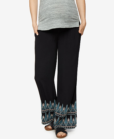 A Pea In The Pod Maternity Wide-Leg Soft Pants