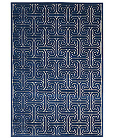 CLOSEOUT! Kelly Ripa Home Interlock KRH20 Ivory/Navy 2'3'' x 8' Runner Rug, Created for Macy's