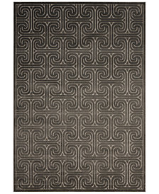 CLOSEOUT! Kelly Ripa Home Interlock KRH20 Dark Grey Area Rug, Created for Macy's