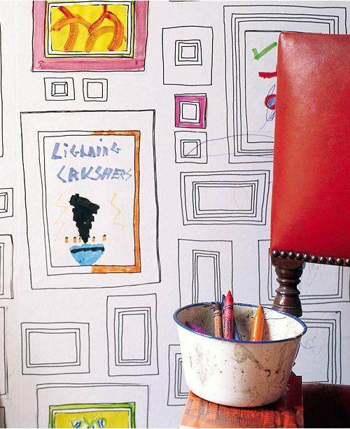 Graham & Brown Funky Frames Wallpaper - Wall Art - Macy\'s