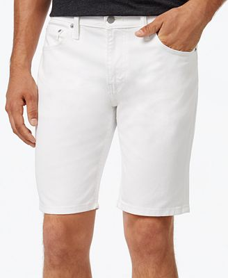 Levi's® Men's 511 Hemmed White Denim Shorts - Shorts - Men - Macy's