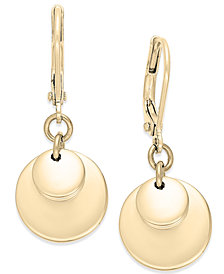 Lauren Ralph Lauren Gold-Tone Triple Disc Drop Earrings
