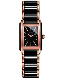 Rado Women's Swiss Integral Two-Tone PVD Stainless Steel & Ceramic Bracelet Watch 23x33mm R20225152