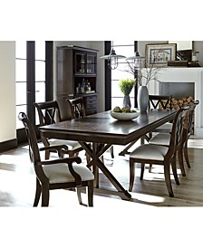 Baker Street Dining 7-Pc. Set (Dining Trestle Table, 4 Side Chairs & 2 Arm Chairs)