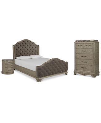 Zarina Bedroom Furniture, 3-Pc. Set (Queen Bed, Chest & Nightstand)