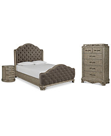 Zarina Bedroom Furniture, 3-Pc. Set (King Bed, Chest & Nightstand)