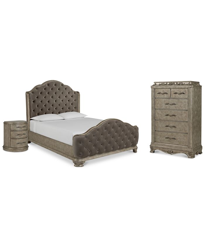 Furniture - Anastasia Bedroom , 3-Pc. Set (California King Bed, Chest & Nightstand)