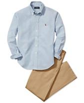 9d508684b Polo Ralph Lauren Blake Oxford Shirt & Suffield Flat-Front Pants, Big Boys