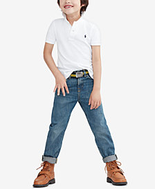 Ralph Lauren Pique Polo & Slim-Fit Mott Jeans, Toddler, Little Boys, & Big Boys