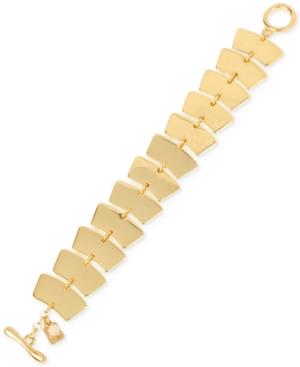 Robert Lee Morris Soho Gold-Tone Geometric Toggle Bracelet