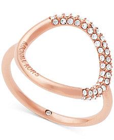 Michael Kors Pavé Crystal Open Circle Statement Ring