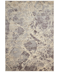 "CLOSEOUT! Nourison Moraine MO745 Grey 5'3"" x 7'5"" Area Rug"