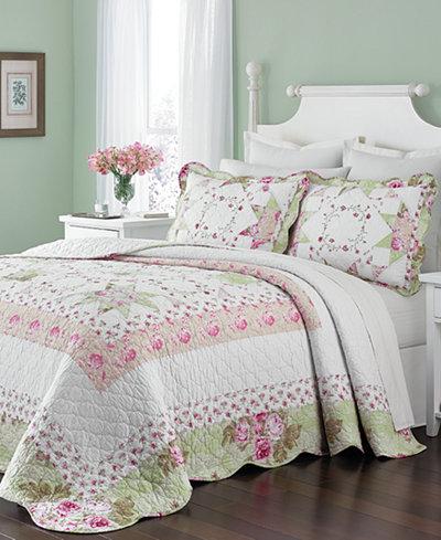 CLOSEOUT! Martha Stewart Collection Emmeline Bedspreads, Created ... : macys bedding quilts - Adamdwight.com