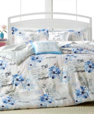 CLOSEOUT! Floral Postcard 5-Pc. Full Reversible Comforter Set