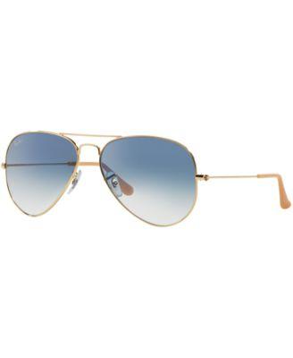ray ban aviator sunglasses rb3025  Ray-Ban AVIATOR GRADIENT Sunglasses, RB3025 58 - Sunglasses by ...