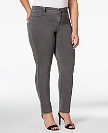 Plus & Petite Plus Size Tummy-Control Slim-Leg Jeans, Created for Macy's