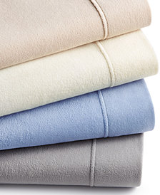 Martha Stewart Collection Fleece Sheet Sets, Created for Macy's