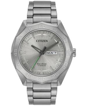 Citizen Men's Eco-Drive Silver-Tone Titanium Bracelet Watch