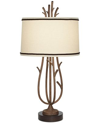 Twig Lamp pacific coast rustic twig cage table lamp - lighting & lamps - for