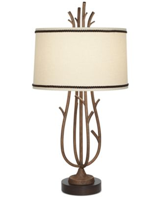 Superb Pacific Coast Rustic Twig Cage Table Lamp