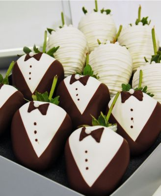 12-Pc. Wedding Belgian Chocolate Covered Strawberries