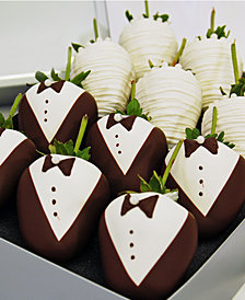 Chocolate Covered Company  12-Pc. Wedding Belgian Chocolate Covered Strawberries